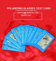 al por mayor vaso examen polarizante-Los vidrios de polarización prueban la tarjeta, gafas de sol que polarizan la tarjeta de texto 100pcs liberan el envío