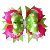 baby hp - Pieces quot Polka Dot Boutique Baby Spike Loopy Hair Bow Clips in HP White Apple Green