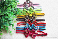Wholesale New Mix Color Fashion Leopard Dog Bowties Reflective Bands Adjustable Cute Dog Bow Tie Collar Dog Grooming Products