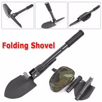 Wholesale 100 BRAND Military Folding Shovel Survival Spade Emergency Garden Camping Outdoor Tool NEW Auto Accessories Car Accessories