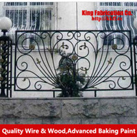 wrought iron fence - Wrought iron fence metal garden railings balcony fence security fencing