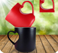 Wholesale love cup Coffee Mug for lovers ML with red and white color ceramics coffee cup C01