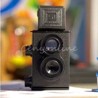 Wholesale High Quality DIY Black Classic Play Hobby Twin Lens Reflex TLR mm Holga for Lomo Camera Kit Outdoor Travel Photograph