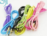 Wholesale 3 mm AUX Audio Cables Male To Male Stereo Car Extension Audio Cable For MP3 For iphone s s Colors