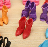 doll shoes - 100 Pairs Trendy Mix Assorted Doll Shoes Multiple Styles Heels Sandals For Barbie Dolls LY
