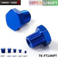 aluminum cooling block - Tansky quot NPT Aluminum Hex Head Male Port Plug Block Off Fitting Adapter Blue TK FT14NPT