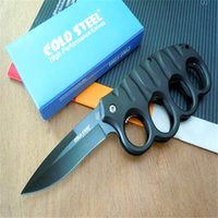 folding box - Cold steel Knuckle Duster pocket knife folding blade CR17Mov Blade Aluminum Handle hunting tactical camping knife knives with retail box