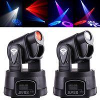Wholesale Mini LED Moving Head Light Spot RGB Stage Lighting Party Dj Disco Club W RGB Multicolor Change DMX Controller Spot Wash Light DHL