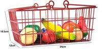 baby fruit basket - Baby Child Cutting Wooden Fruit Kitchen Artificial Cake Food Vegetable with Iron Metal Basket Play House Pretend Play