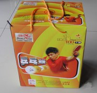 Wholesale 100 Pisces international table tennis with white yellow color Special training game pingpang tinnis ball