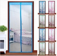Wholesale 1PC Magnetic mosquito curtains anti Insect screen Door Curtain Hand Free Magnetic net Bug crochet Curtain cm Fast Shipping