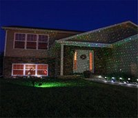 Wholesale Waterproof Outdoor Laser Firefly Stage Lights Sky Star Lawn Lamps Landscape Red Green Projector for Christmas Garden Xmas Decorations supply