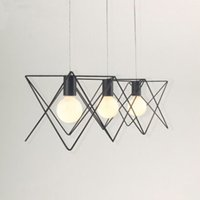 Wholesale Creative Personality Nordic Minimalist wrought Iron Chandelier Living Room Restaurant Bar Study Chandelier