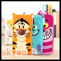 Wholesale 3D Cartoon Monsters Sulley Tigger Silicone Case For iphone S s plus Samsung Galaxy S6 Edge A3 A5 A7 Duos G7106 Core