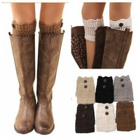 active boots - LJJD3759 pairs colors hot sale lady Knitted leg warmers women Crochet boot cuff fashion women knitted boot cuff winter leg warmers
