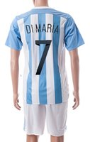 america suit - Copa America new discount Cheap soccer jerseys Customized Argentina home dimaria Football Shirts With Shorts good Soccer Jersey suit