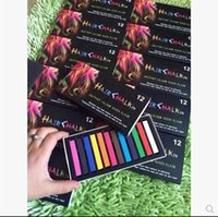 Wholesale 12 Color Hair Dye Easy Temporary Colors Non toxic Hair Chalk Soft Pastels Kit Hair Color Crayons for Hair