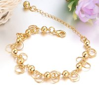 allergy charm bracelet - 18K YELLOW GOLD GP BRACELET GOLD charm bracelets anti allergy wholesaler