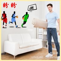basketball room decorations - bedroom decoration Gym decorative stickers bedroom background wall decoration stickers JM7263 environmental movable material Basketball