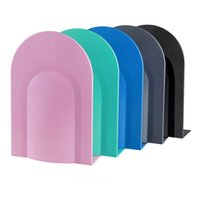 Wholesale Practical L Shaped Anti skid Bookends Shelf Colorful Iron Book Shelves Bookshelf Support Holder Desk Stands For Books