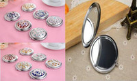 Wholesale Mini Cute makeup mirror portable hand mirror with Comb Makeup mirror new cosmetic pocket mirror