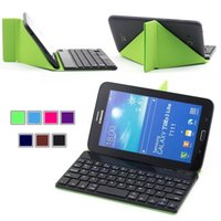 andriod tablet pc cases - Wireless Bluetooth Keyboard Case holder for andriod system Samsung Google Tablets PC English or Russian Layout