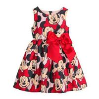 Cheap Minnie Mikey Mouse Girls Dresses Summer Kids Sleeveless Butterfly Clothes Vest Dress Childs Cartoon Bowknot Tank Dressy