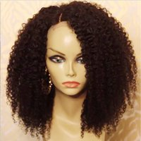 Wholesale Cheap Kinky Curly Wig Brazilian Virgin Afro Kinky Curly Full Lace Wig For Black Women Middle Side Part Full Lace Human Hair Wigs