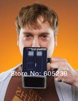 bone china - Doctor Who Tardis Mug Ceramic Mug With Removable Lid Cup