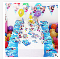 Wholesale 2015 Luxury Kids Birthday Decoration Set Elsa Anna Frozen Theme Party Supplies Baby Birthday Party Pack R268