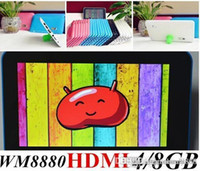Cheap 2015 7inch Multi color WM8880 Q88 Dual Core WM 8880 A20 Jelly bean Android 4.2 Tablets 4GB   8G HDMI WIFI tablet pc Dual Camera Built-in