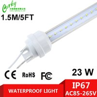 Wholesale Waterproof LED T8 Tube AC85 V W FT CM led Light For Hydroponic Greenhouse Plant Grow White Red Pink Blue CE ROHS FCC Freesipping