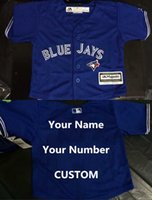 baby blue jays - 30 Teams Cheap Authentic toronto blue jays jersey Baby custom any name and numbers white blue grey Cool Base toddler Jersey stitched S L