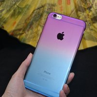 apple chromatic - New arrival the gradient of the colors soft tpu phone case ultrathin chromatic shell for apple iphone6 inch plus inch