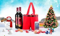 best christmas ornaments - Best selling Red Santa Father Christmas pants style pocket plush Christmas candy red wine gift bag Xmas Bags Gifts decoration ornaments