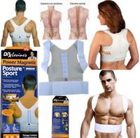 Wholesale Adjustable Magnetic Therapy Posture Support Corrector Correction Body Back Pain Lumbar Belt Shoulder Brace Shoulder support
