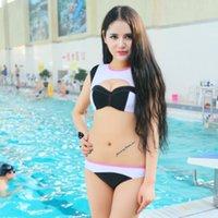 Wholesale New Summer Patchwork Swimwear Woman Bikinis Sexy Swimsuit Bathing Suit Push Up Bikini set
