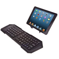 Wholesale SEENDA IBK Keyboards Wireless Bluetooth Folding Keyboard Compatible With iOS Windows Android Tablets Smart Phones Smart TV Black Free DHL