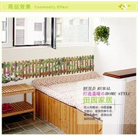 bedroom decorating designs - Removable sticker Skirting Waist Line wall stickers idyllic evening fence entrance hallway decorated AY7192 one set CM