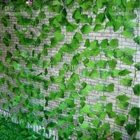 plastic vine - Artificial Silk Plastic Grape Vine Plants Leaf Craft Ornament Supplies For Wedding Home Decor