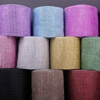 mesh ribbon - 10 Yards quot Mesh Wrap Roll Sparkle Rhinestone Crystal Wedding Diamond Ribbon