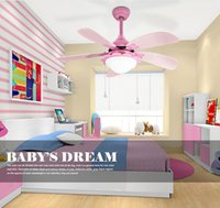 Wholesale Children s room W LED ceiling fan light with one lamp and drawstring control switch
