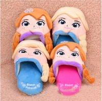 Wholesale new frozen slippers anna cartoon bedroon slippers