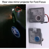 Wholesale 2016 newest rear view mirror projector logo light for Ford Focus EDGE KUGA MONDEO EXPLORER TAURUS high definition rear view mirror light