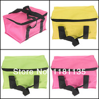 aluminum tote boxes - Colorful High Qulity Travel Waterproof Aluminum Foil Insulated Cool Bag Lunch Box Picnic Tote
