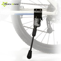 Wholesale ROCKBROS Adjustable Replaceable Bike Bicicleta Bicycle Side Stick Kickstand Kick Stand for quot er MTB C Road Bike Black