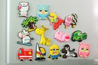 Wholesale Cartoon Fridge Magnets Fashion Cute D Flexible glue Animals Tree Cars Zebra Sheep Owl Home Decoration Animal Gel refrigerator magnets H141
