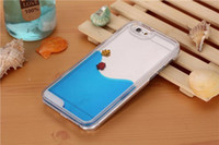 Wholesale iPhone Plus s s Case Freedom Fish Fashion Beautiful Water Inside Liquid Cover Cool Down Phone Funny Gift Hotsale Worldside