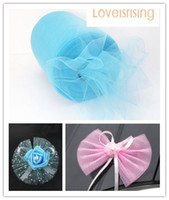 aqua wedding cakes - New Arrivals Rolls quot x100y Aqua Blue Color Tulle Rolls Spool Tutu DIY Craft Wedding Banquet Fabric Wedding Car Decor