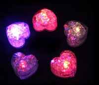 Wholesale christmas gifts heart shape cm ice cube lights with battery support mix order